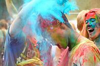 Фарба Холі (Гулал), Бірюзова, 50 грам, суха порошкова фарба для фестивалів, флешмобів, фото 1