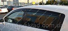 Вітровики вікон Ніссан Тііда 1 С11 (дефлектори бокових вікон Nissan Tiida C11 hb)