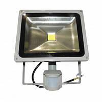 Прожектор с датчиком LED 30w 6500K IP65 1LED LEMANSO серый