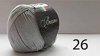 Итальянская пряжа для вязания хлопок с вискозой