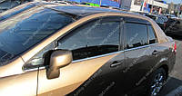 Ветровики окон Ниссан Тиида 1 седан (дефлекторы боковых окон Nissan Tiida C11 sd)