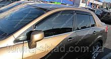 Вітровики вікон Ніссан Тііда 1 седан (дефлектори бокових вікон Nissan Tiida C11 sd)
