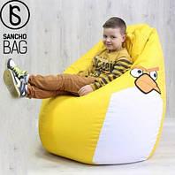Детское бескаркасное кресло Angry Birds XXL