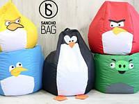 Детское бескаркасное кресло Angry Birds XL