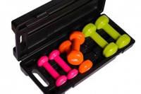 Набор гантелей в кейсе 6кг PowerPlay для фитнеса