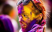 Фарба Холі (Гулал), Фіолетова, фасування 50 грам, суха порошкова фарба для фествиалів, флешмобів