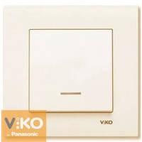 Выключатель с подсветкой крем Viko (Вико) Karre (90960119)