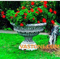 Вазон садовый для цветов «Андромеда» бетонный