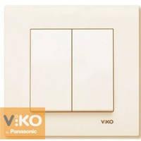 Выключатель двойной крем Viko (Вико) Karre (90960102)