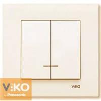 Выключатель двойной с подсветкой крем Viko (Вико) Karre (90960150)