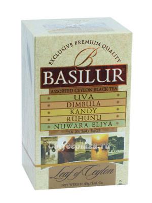 "Чай ""Basilur"" Басилюр ""Лист Цейлона"" Ассорти, 20 ф/п"