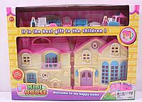Игрушечный домик с мебелью и фигурками