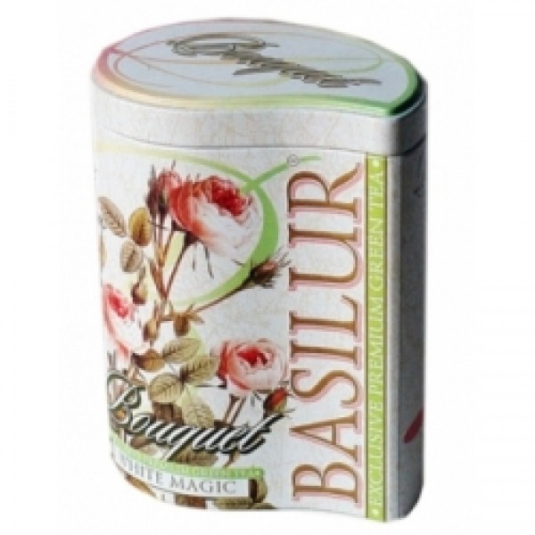 "Чай ""Basilur"" Басилюр ""Букет"" Белое Волшебство, 100г ж/б"