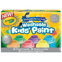 Набор для творчества Crayola 6 баночек со смываемыми красками (54-5000)