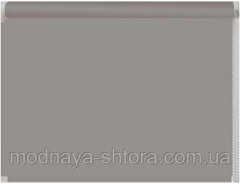 Тканевые рулонные шторы Black out (блэкаут) СЕРЫЙ, РАЗМЕР 47,5х170 см