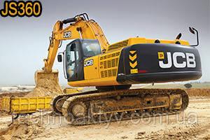 Гусеничный экскаватор JCB JS360  Максимальная мощность двигателя 212кВт Эксплуатационная масса 38372кг