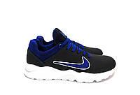 Подростковые кожаные кроссовки Nike синего цвета