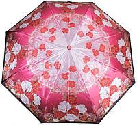 Яркий женский красный зонт автомат ТРИ СЛОНА, RE-E-137F-3 Антиветер