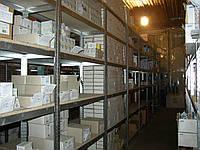 Оцинкованный разборной стеллаж 80 кг на полку, 2500х920х600 на 6 полок ДСП