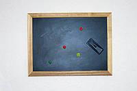 Доска магнитно-меловая в деревянной раме 60х90