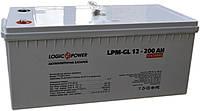 Аккумулятор гелевый Logicpower LP-GL 12V 200AH, (Gel) для ИБП