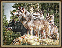 "Гобеленовая картина ""Волки"" 400х600мм №G309"