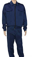Костюм охранника синего цвета брюки и куртка демисезонный