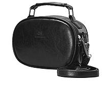 Черная Женская Классическая сумочка с двумя ручками через плечо