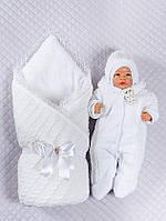 """Зимний Набор на выписку для новорожденного """"Фантазия"""" (белый) , фото 1"""