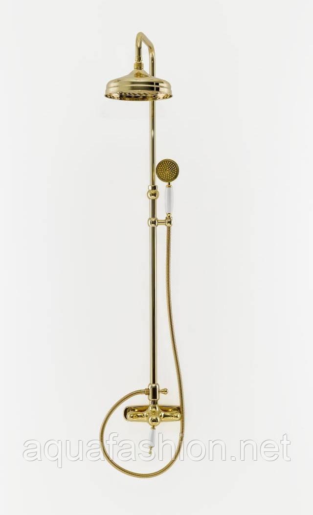 Золотая система с тропическим душем Bugnatese Oxford