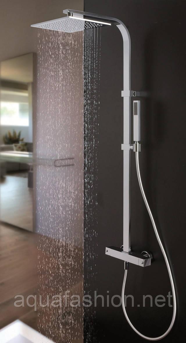 Душевая система с тропическим душем и термостатом Paffoni Италия