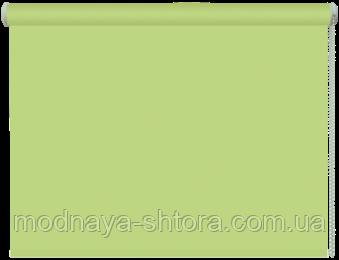 Тканевые рулонные шторы Black out (блэкаут) ЗЕЛЕНЫЙ, РАЗМЕР 97,5х170 см