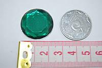 Камень с гранями на клей 25 мм  зеленый