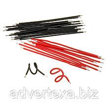 100 штук луженых соединительных кабелей. Провода 56 мм. черные и красные