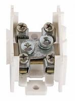 Клеммная колодка магистральная (проходимая) e.tc.main.steel.35, 1х35 мм.кв./4х6 мм.кв., стальной контакт