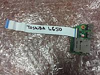 Toshiba L650 плата USB