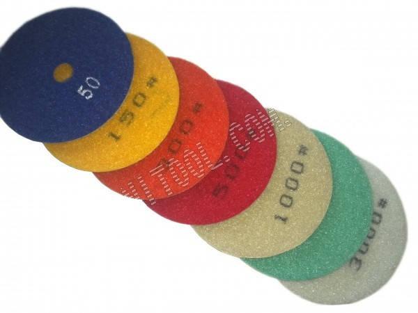 Набор алмазных гибких шлифовальных кругов 7шт, фото 2