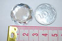 Камень с гранями   на клей 25мм белый