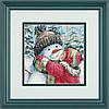 Dimensions Поцелуй для снеговика A kiss for Snowman Набор для вышивки крестом 08833