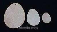 Деревянное яйцо (заготовка для детского творчества и рукоделия), 7х5.5 см., 12\10 (цена за 1 шт. + 2 гр.)