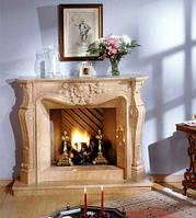 Каминные порталы из натурального мрамора