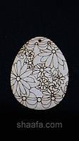 Пасхальное яйцо (заготовка для творчества и рукоделия из фанеры), 7х5.5 см., 12\10 (цена за 1 шт. + 2 гр.)