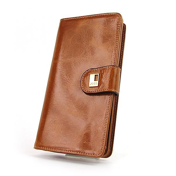 e211850d5da9 Рыжий кожаный кошелек JCCS женский на кнопке: продажа, цена в Днепре ...