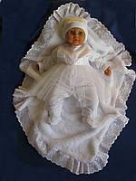 Крыжма «Дейзи». Крещение ребенка - крижма. Плед для новорожденного, крыжма