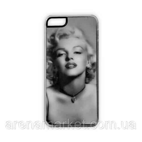 Чехол для iPhone 5/5S Marilyn Monroe - серый