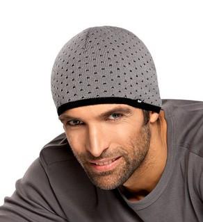 Теплая вязанная мужская шапочка  от Loman Польша