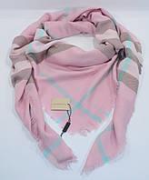 Большой кашемировый платок, шаль Burberry нежно-розовая