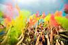 Фарба Холі, Краска Холи, Гулал,Жовта, від 10 кг., фасування по 100 грам, для фествиалів, флешмобів