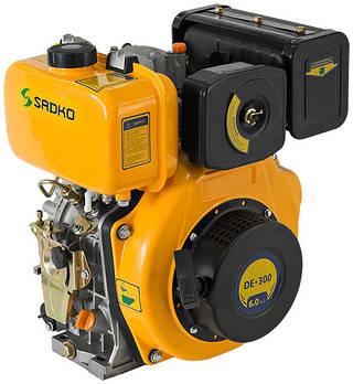 Дизельный двигатель Sadko DE-300 (6 л.с., шпонка)