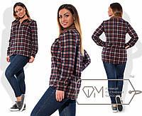 Рубашка женская в красную клетку ДВ/-067